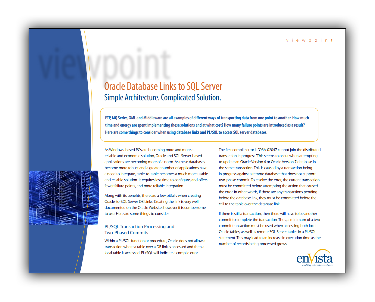 White Paper: Oracle Database Links to SQL Server