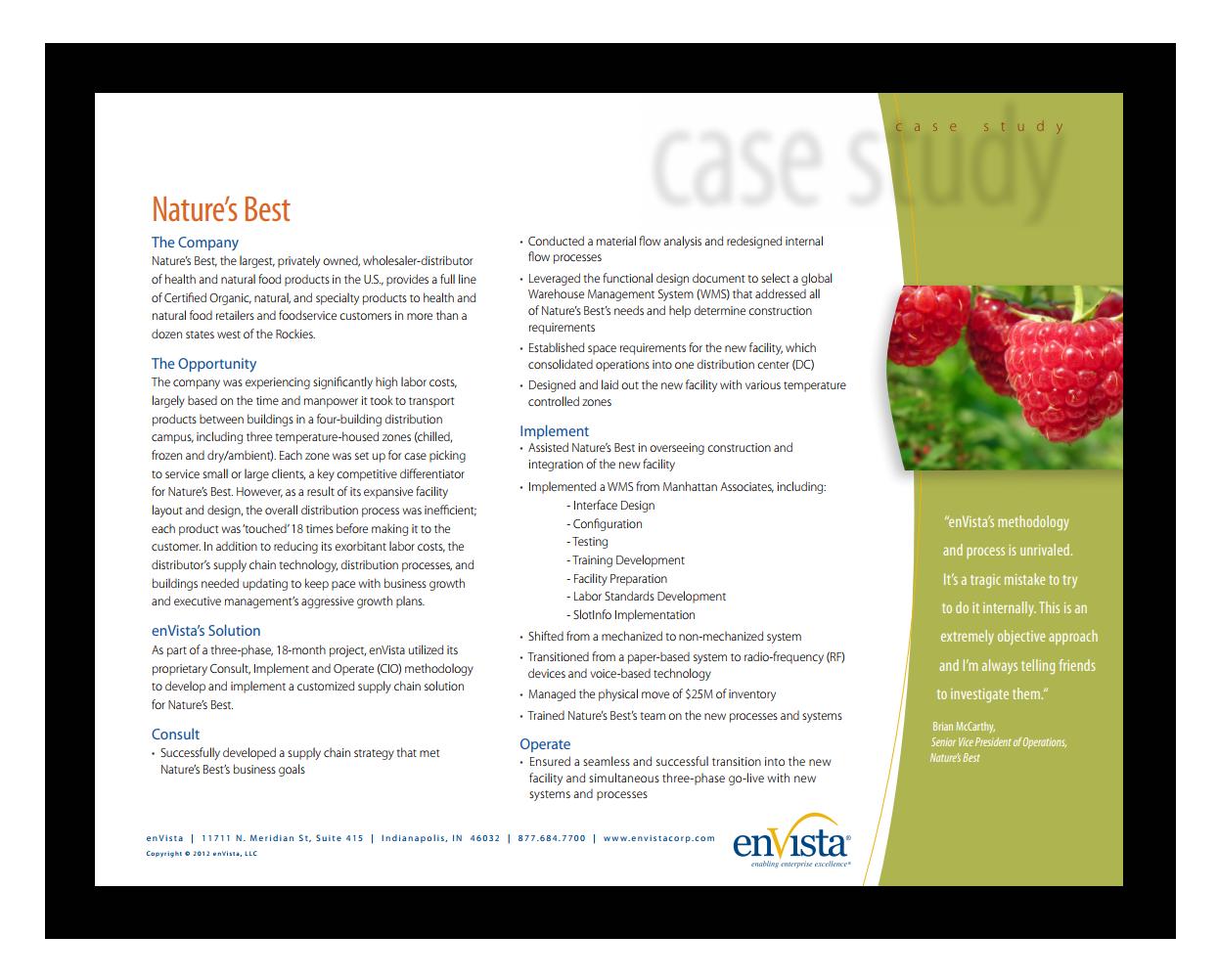 Case Study: Nature's Best