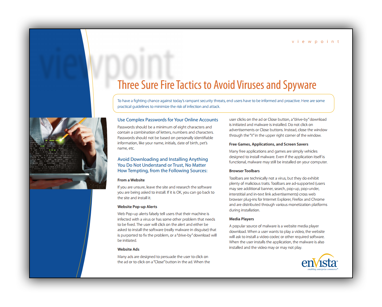White Paper: 3 Sure Fire Tactics to Avoid Viruses and Spyware